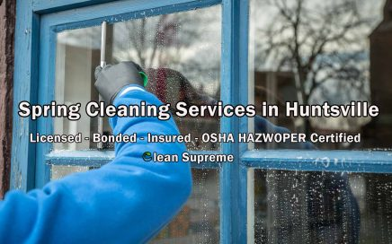 Spring Cleaning Services in Huntsville