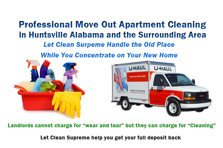 Apartment and Rental Home Move Out Cleaning Huntsville
