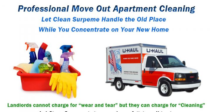 Moving Out? Call Clean Supreme for Apartment Move Out Cleaning in Huntsville and get your full security deposit back. Dependable, affordable move out cleaning in Madison County.
